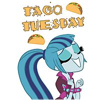 Sonata Dusk - Taco Tuesday - MLP - Brony Photographic Print