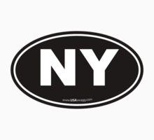New York NY Euro Oval  Kids Clothes