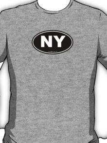 New York NY Euro Oval  T-Shirt