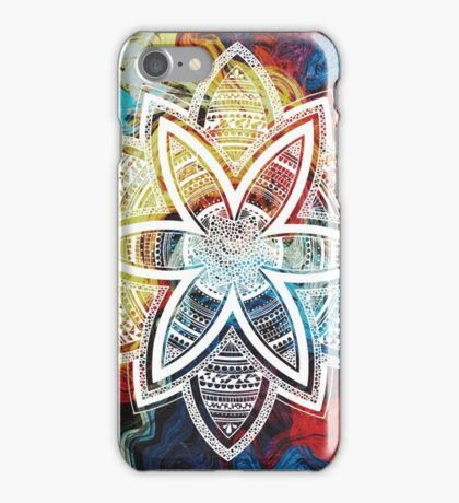 Patience white mandala iPhone Case/Skin