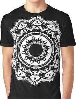 Cellular black and white mandala Graphic T-Shirt