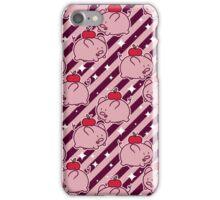 Apple Pig Striped Pattern iPhone Case/Skin