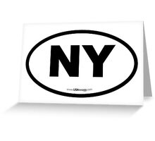 New York NY Euro Oval  Greeting Card
