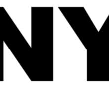 New York NY Euro Oval  Sticker
