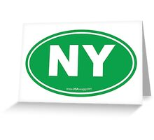 New York NY Euro Oval GREEN Greeting Card