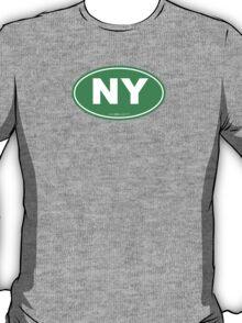 New York NY Euro Oval GREEN T-Shirt