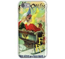 Festival for the poor France Russia art nouveau ad iPhone Case/Skin