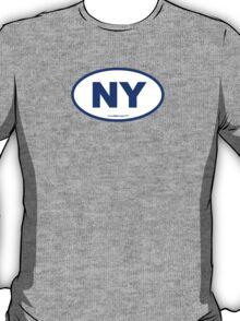 New York NY Euro Oval BLUE T-Shirt