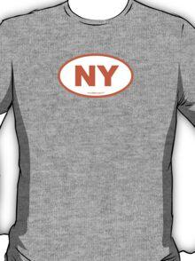 New York NY Euro Oval ORANGE T-Shirt