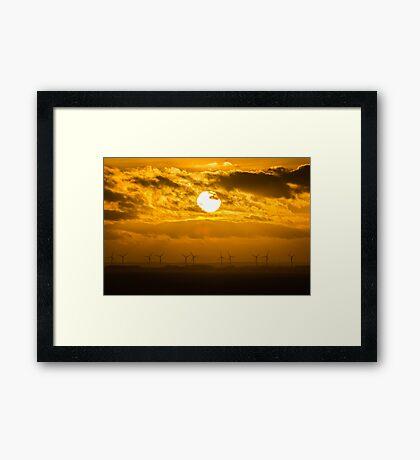Bridlington Wind Farm Framed Print