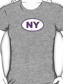 New York NY Euro Oval PURPLE T-Shirt