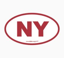 New York NY Euro Oval RED by USAswagg2