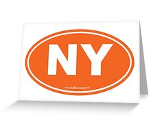 New York NY Euro Oval ORANGE Greeting Card