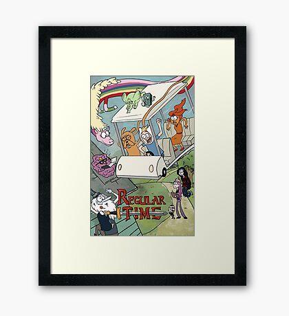 Regular Time Framed Print
