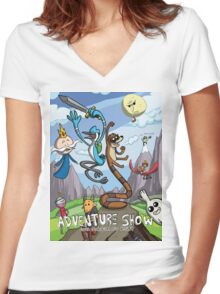 Adventure Show Women's Fitted V-Neck T-Shirt