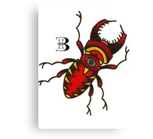 olschool beetle Canvas Print