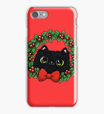 Holly Jolly Cat-mas iPhone Case/Skin