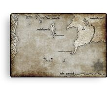 Map - Caged: Love and Treachery on the High Seas Canvas Print
