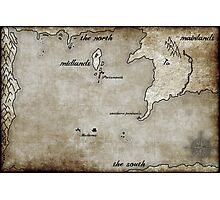 Map - Caged: Love and Treachery on the High Seas Photographic Print