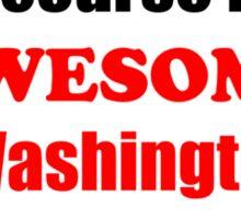 Washington Is Awesome Sticker