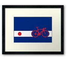 Bike Stripes Japan Framed Print