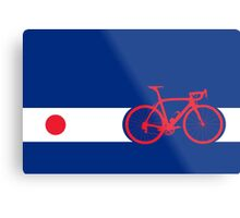 Bike Stripes Japan Metal Print