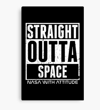 Straight Outta Space Distressed (black) Canvas Print