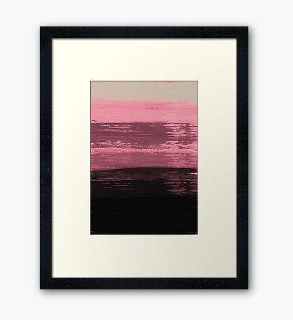 Acrylic pink abstract pattern Framed Print