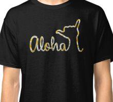 Aloha Shaka Plumeria Design by Menehune Hale Classic T-Shirt