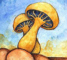 Mushroom Enlightened by the Moon by Katrina Larock