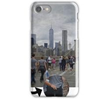 Brooklyn Bridge and the hand in the bag iPhone Case/Skin