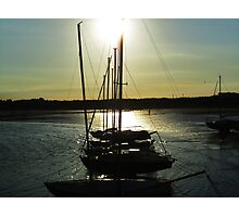 Low Light at Beadnell Harbour Photographic Print