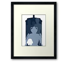 Doctor who cutout TARDIS Framed Print