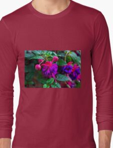 Violet Flowers - Nature Photography Long Sleeve T-Shirt