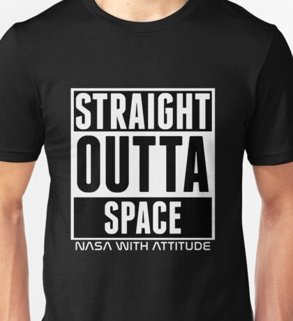 Straight Outta Space (black) Unisex T-Shirt