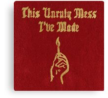 This Unruly Mess I've Made - Macklemore Album Art Cover Canvas Print