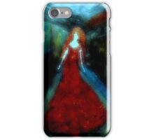 Crimson Woman in the Ether iPhone Case/Skin