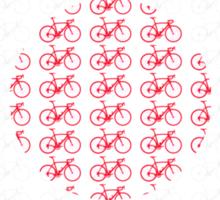 Bike Flag Japan (Small) Sticker