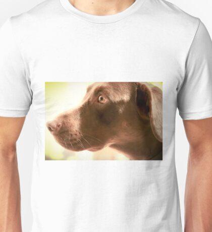 Alert Chocolate Lab Unisex T-Shirt