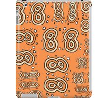 Crazy eights melon pattern black and white iPad Case/Skin