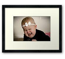 Precious baby tantrum Framed Print