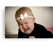 Precious baby tantrum Canvas Print