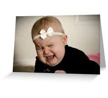 Precious baby tantrum Greeting Card