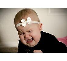 Precious baby tantrum Photographic Print