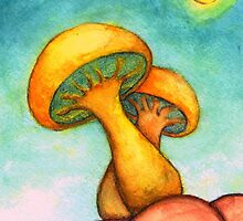 Mushroom Basking in the Warm Sun by Katrina Larock