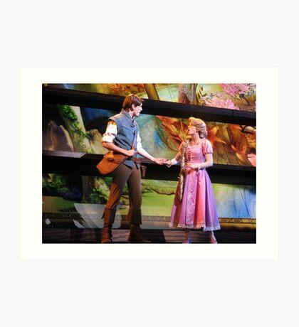 Flynn Rider & Rapunzel Art Print