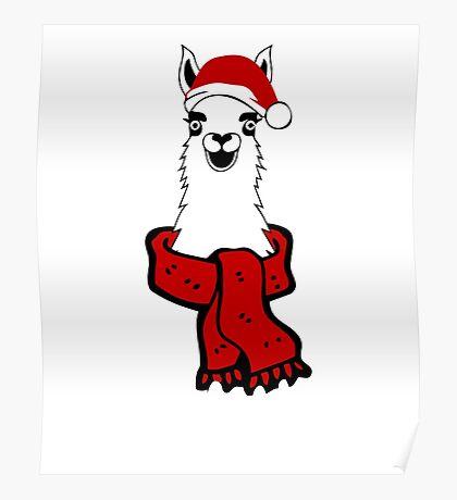 Christmas Llama  Poster