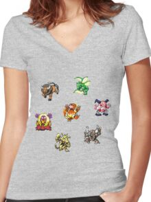 Pokemon Weirdos Women's Fitted V-Neck T-Shirt