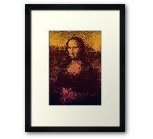Sunset Mona Lisa Framed Print