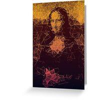 Sunset Mona Lisa Greeting Card